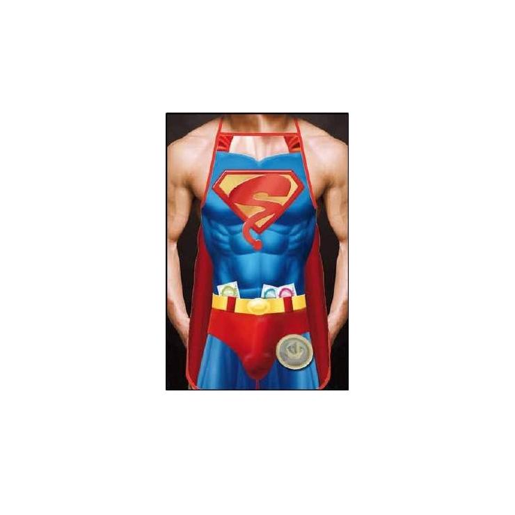 GREMBIULE DA SUPER BOY CON PROFILATTICI