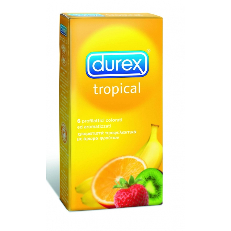 6 PROFILATTICI TROPICAL DUREX COLORATI