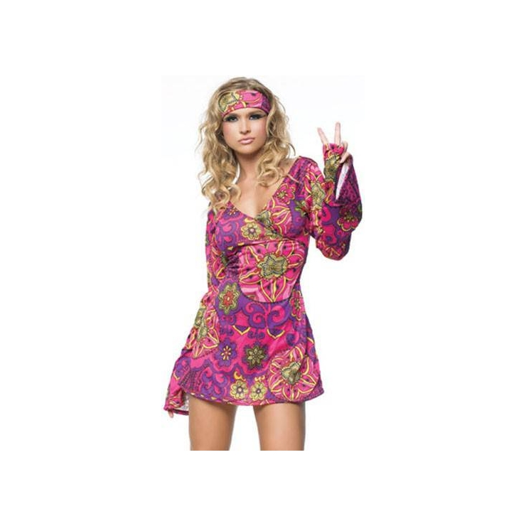 COSTUME TRAVESTIMENTO RAGAZZA HIPPIE