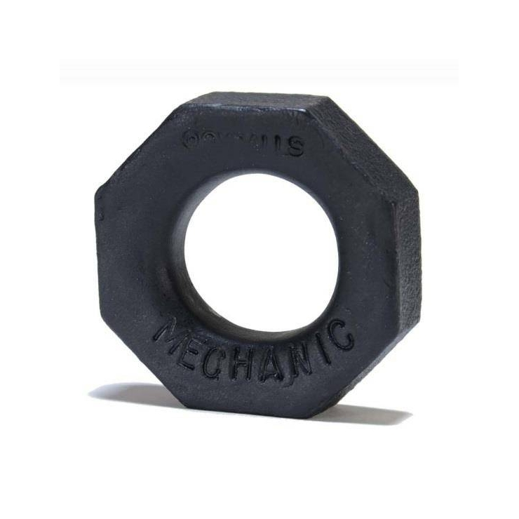 ANELLO PER PENE MECHANIC NERO IN SILICONE