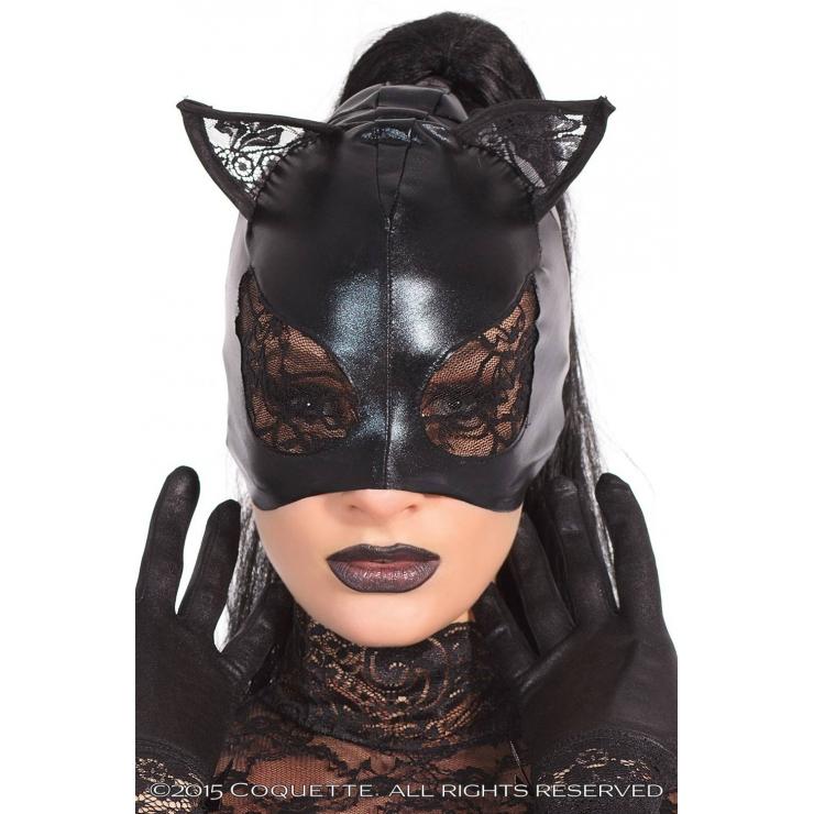 MASCHERA DA CAT WOMAN CON PIZZO