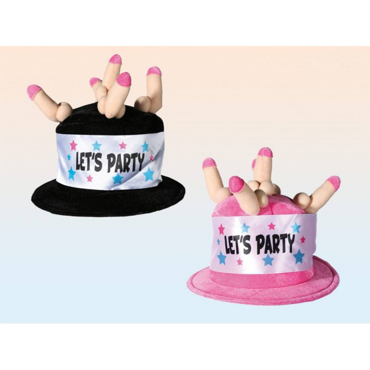 "CAPPELLO IN PELUCHE CON PISELLI ""LET'S PARTY"""