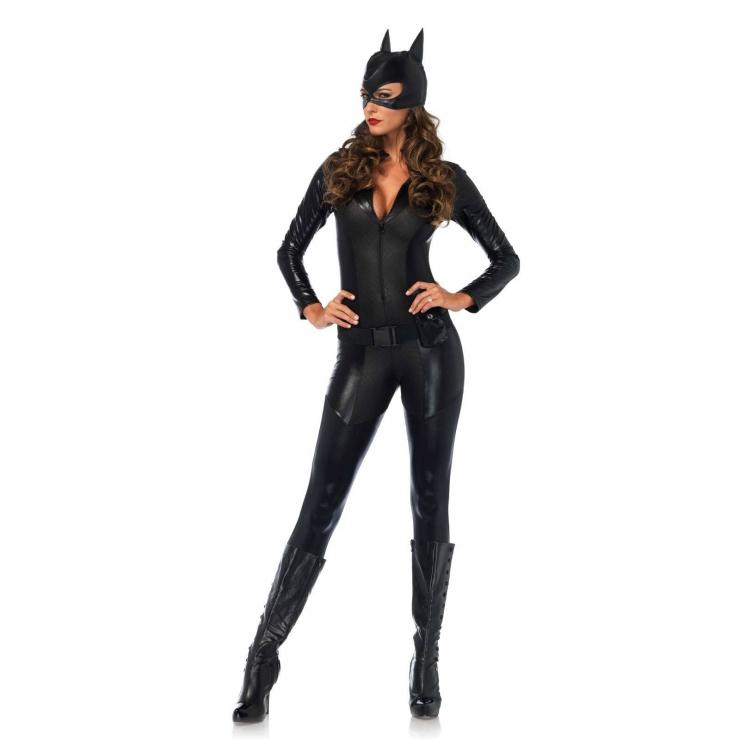 SEXY TUTA NERA DA CAT WOMAN