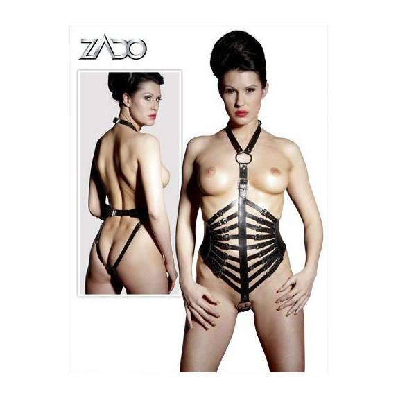 Body Per Donna In Cuoio Con Cinghie Regolabile