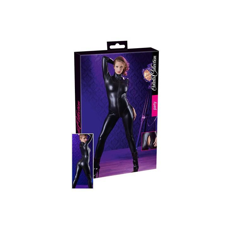 TUTA CATSUIT LUCIDA CON ZIP FETISH PER DONNA IN SPANDEX
