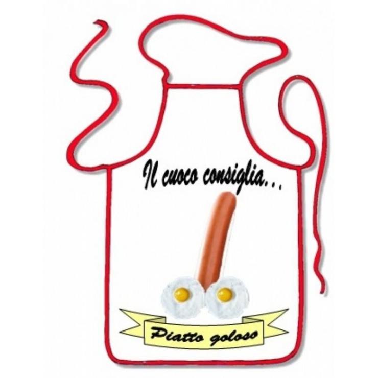 GREMBIULE SCHERZOSO IL CUOCO CONSIGLIA PIATTO GOLOSO