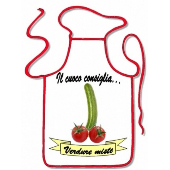 GREMBIULE SEXY SCHERZOSO IL CUOCO CONSIGLIA VERDURE MISTE