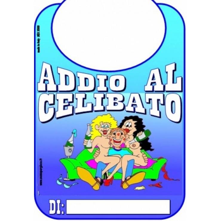 BAVAGLIO SCHERZOSO ADDIO AL CELIBATO DI COLORE BLU