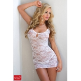 SEXY CHEMISE IN PIZZO CON STAMPA FLOREALE
