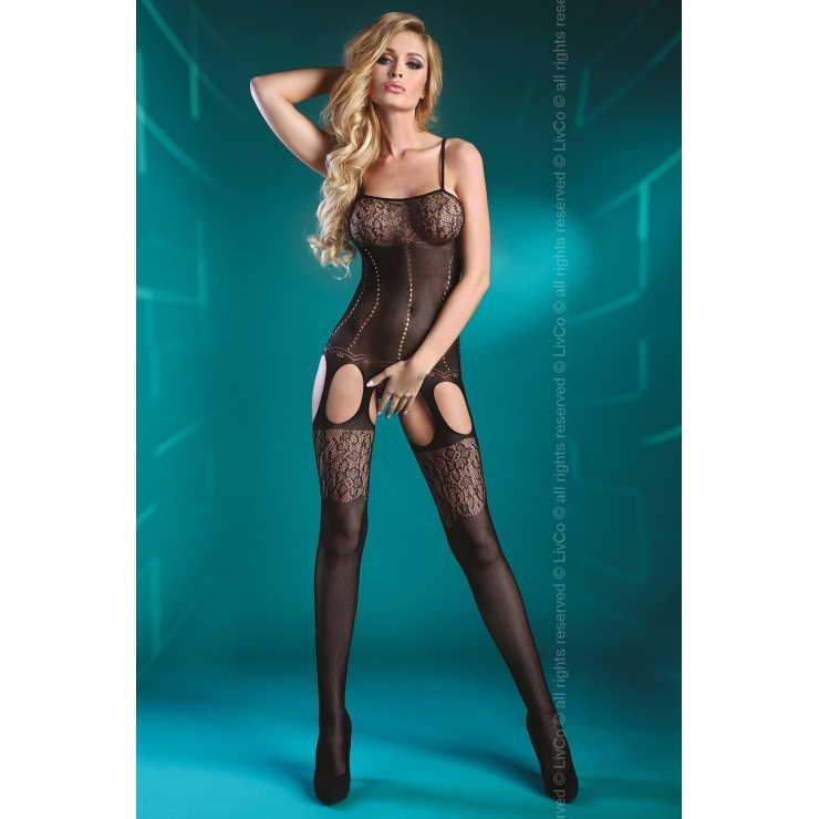 BODYSTOCKING ELSA SEXY APERTA ALL'INGUINE CON PIZZO