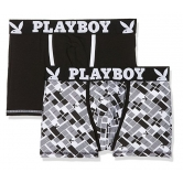 DUE BOXER NERO E CON FANTASIA SEXY PLAYBOY