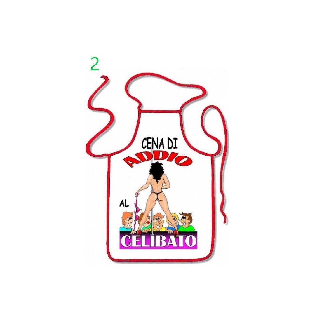 GREMBIULE SCHERZOSO SEXY ADDIO AL CELIBATO