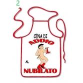 GREMBIULE SCHERZOSO SEXY ADDIO AL NUBILATO