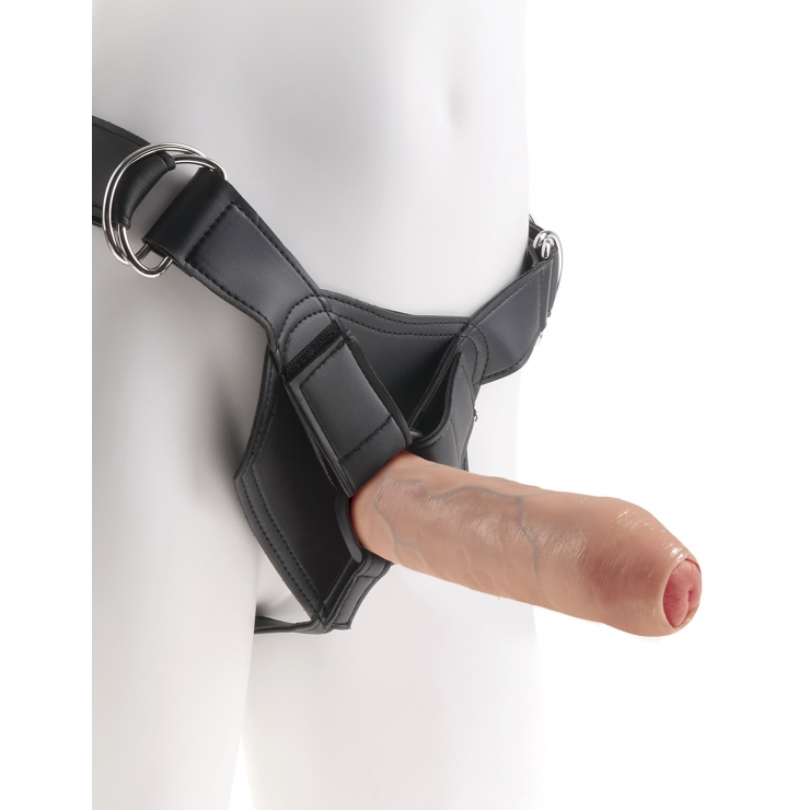 STRAP ON CON FALLO CON PREPUZIO MOBILE SEX TOY UNCUT 7 INCH