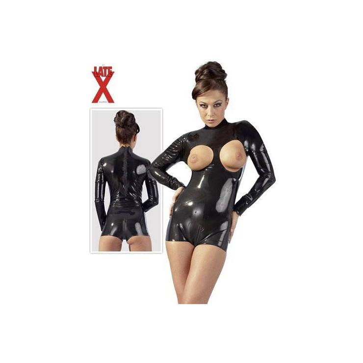 BODY SEXY PER DONNA IN LATTICE-LATEX APERTO