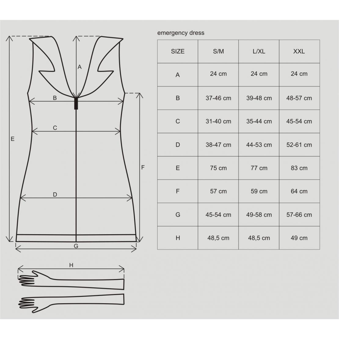 COSTUME INFERMIERA SEXY CON STETOSCOPIO EMERGENCY DRESS