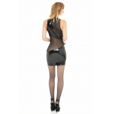 MINI ABITO SEXY PER DONNA IN PVC E TULLE