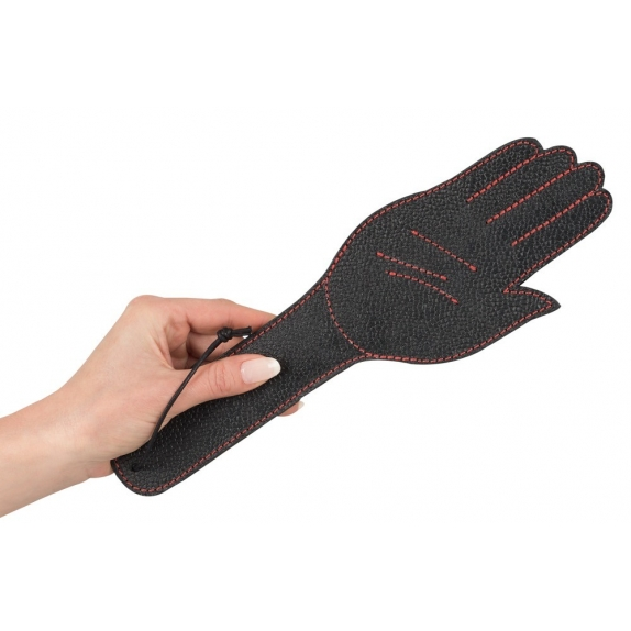 PADDLE IN PELLE NERA SEX TOY A FORMA DI MANO