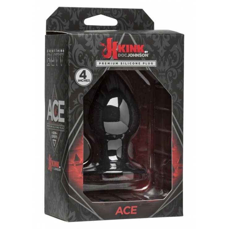 PLUG ANALE ACE CON VENTOSA SEX TOY IN SILICONE 10 CM