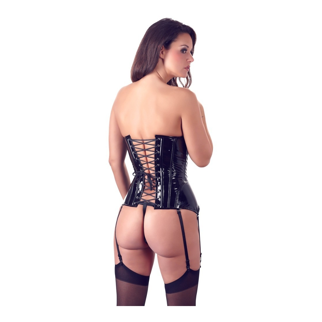 GUEPIERE SEXY PER DONNA IN PVC CON GANCETTI