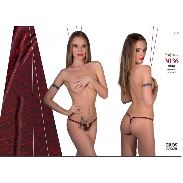 STRING SEXY PER DONNA IN LAME' APERTA ALL'INGUINE