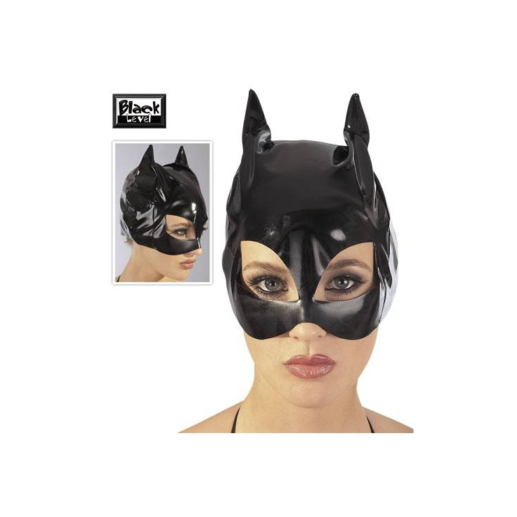 MASCHERA CAT WOMAN IN VINILE LUCIDO