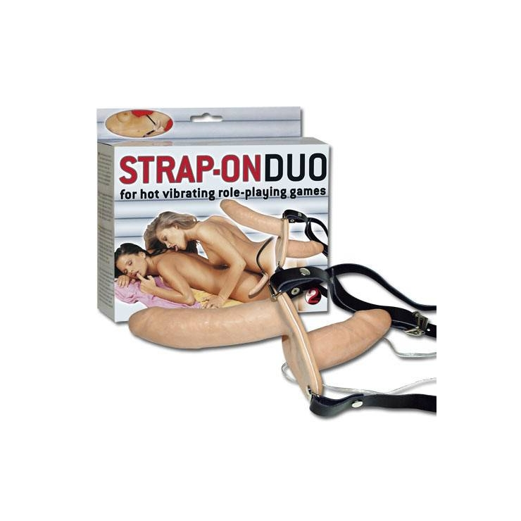 STRAP-ON DUO VIBRANTE DOPPIO DILDO