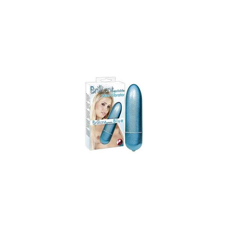 BRILLIANT SPRINKLE BLUE MINI VIBRATORE