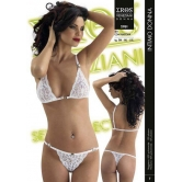 COMPLETO INTIMO IN PIZZO BIANCO