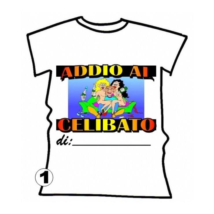 T-SHIRT SCHERZOSA ADDIO AL CELIBATO DI...