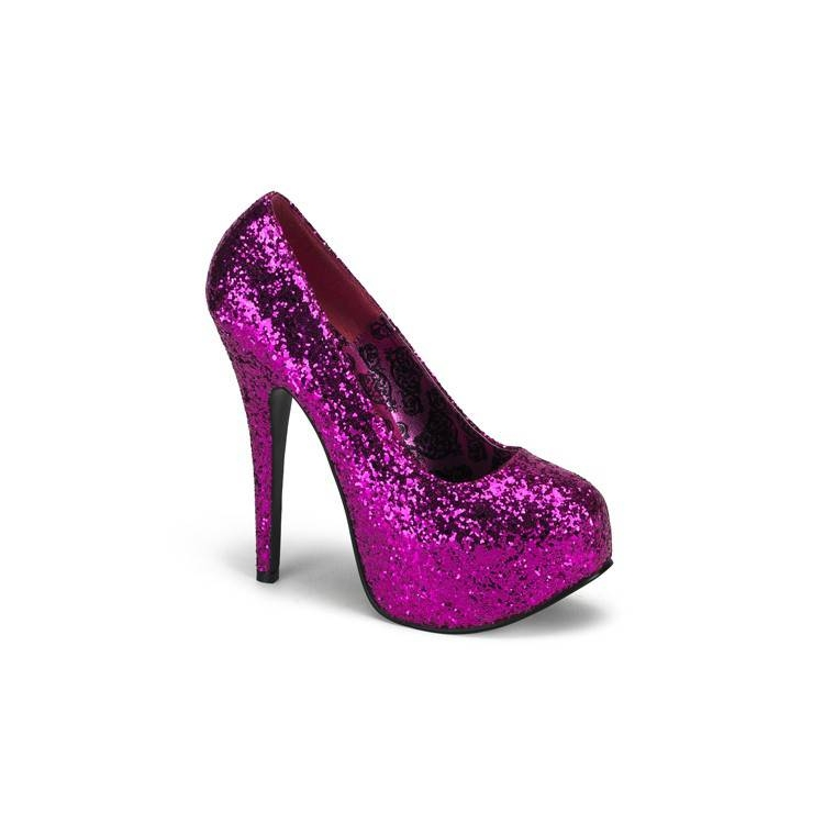 DECOLTE' BORDELLO CON GLITTER FUCSIA