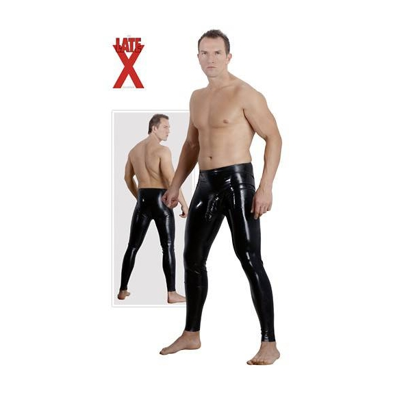 LEGGINS PANTALONI DA UOMO IN LATEX