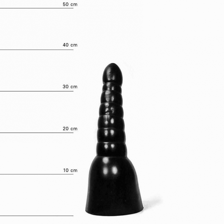 ALL BLACK DILDO NERO 32 CM